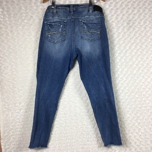 Silver Jeans Aiko Skinny Mid Rise Jeans Stretch 18